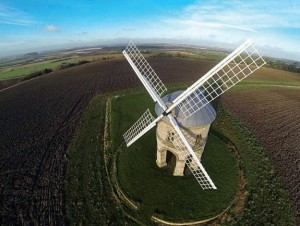 Moulin de Chesterton vu du ciel