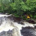 sauvetage en rivière par drone